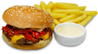 Spicy Burger+Fritas