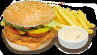 Chicken burger+Fritas