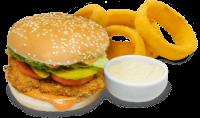 Chicken burger+Anéis de Cebola