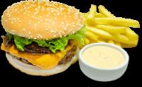 Hambúrguer Onion com Fritas