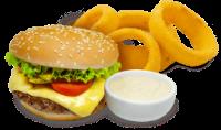 Hambúrguer Classic com Anéis de Cebola