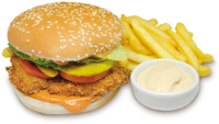 Chicken burger+Fritas