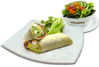 Italian Wrap + Saladinha