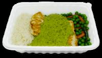 Frango Molho Espinafre c/arroz e legumes